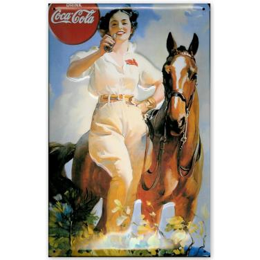 Coca-Cola Girl with horse-(20x30cm)