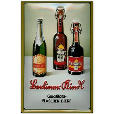 Berliner Kindl Flaschen-Biere -(20x30cm)