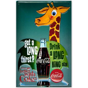 Coca-Cola Giraffe -(20x30cm)