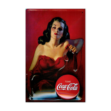 Coca-Cola Lady in Red-(20x30cm)