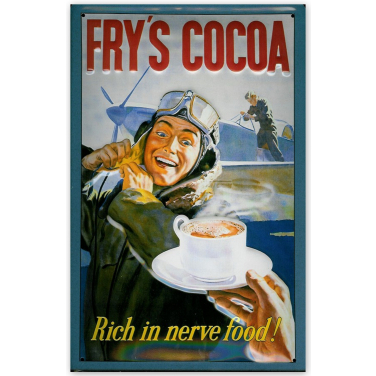 Fry's Cocoa Rich in nerve food!-(20x30cm)