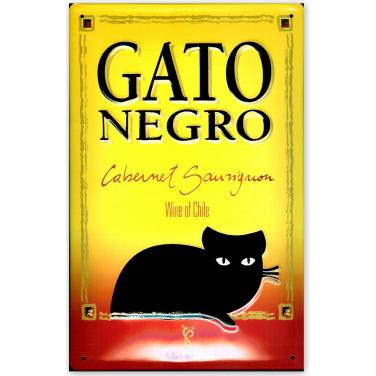 Gato Negro -yellow.-(20x30cm)
