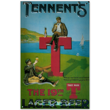 Tennent's Lager - Golf-(20x30cm)