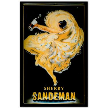 Sandeman- Lady in yellow dress-(20x30cm)