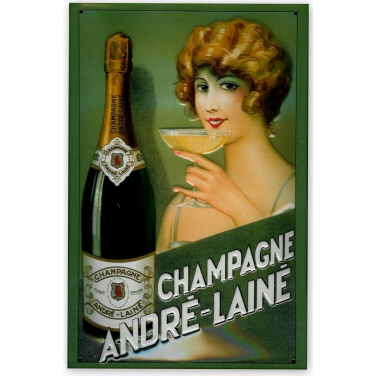 Andre-Laine  Champagne -(20x30cm)