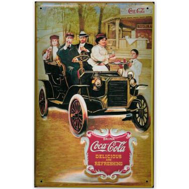 Coca-Cola Antique Car-(20x30cm)