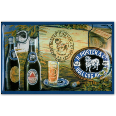 Bull Dog Ale and Stout -(20x30cm)