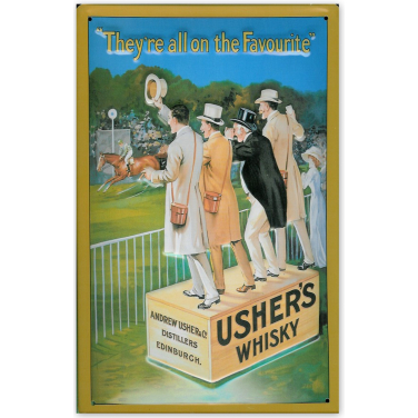 Usher's Whiskey-(20x30cm)