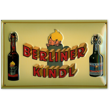 Berliner Kindl - Gelb-(20x30cm)