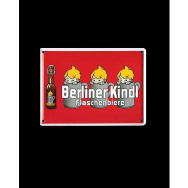 Berliner Kindl Flaschenbiere rot-(8x11cm)