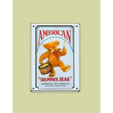 American Drummer Bear-(8 x 11cm)