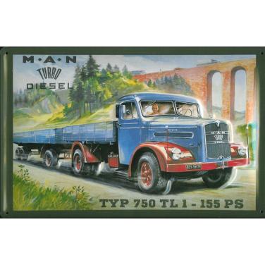 MAN Turbo Diesel -(20x 30cm)