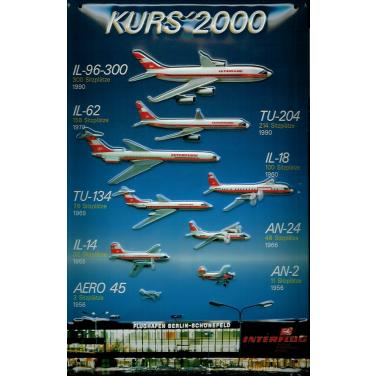 Interflug Kurs' 2000-(20 x 30cm)