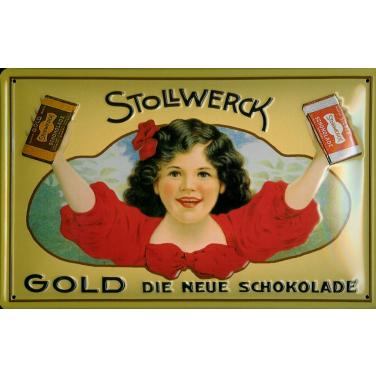 Stollwerck Gold -(20 x 30cm) die neue schokolade