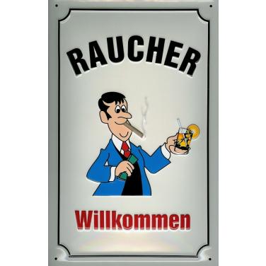 Raucher Willkommen-(20 x 30cm)