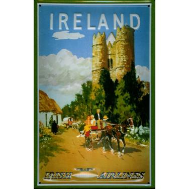 Irish International Airlines-(20x 30cm)