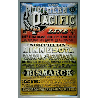 Northern Pacific Line -(20x 30cm)