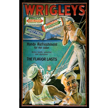 Wrigley's Chewing gum Sailor -(20 x 30cm)