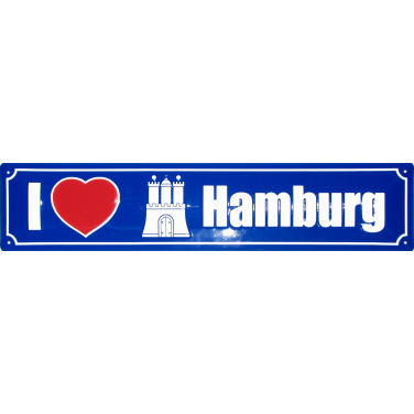 I love Hamburg-(10 x 44cm)