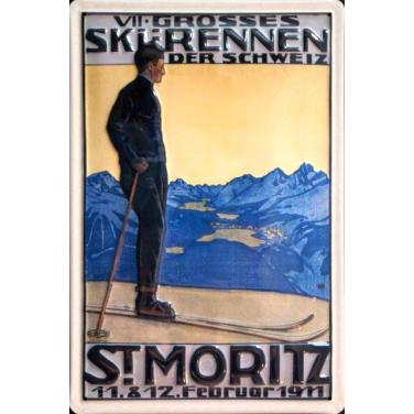 St Moritz- Ski-(20 x 30cm)
