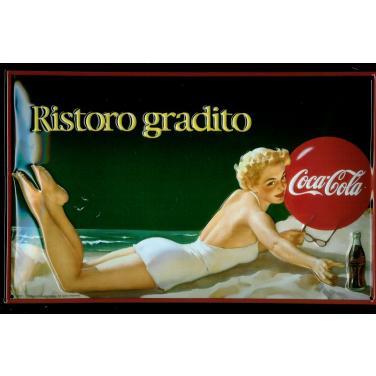 """Coca-Cola Lady on beach """"Ristoro gradito"""""""