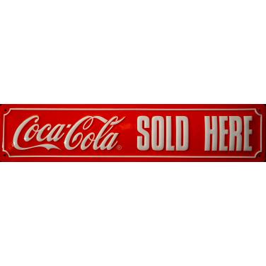 Coca-Cola Sold Here-(10 x 44cm)