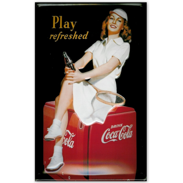 Coca-Cola Tennis Girl-(20x30cm)