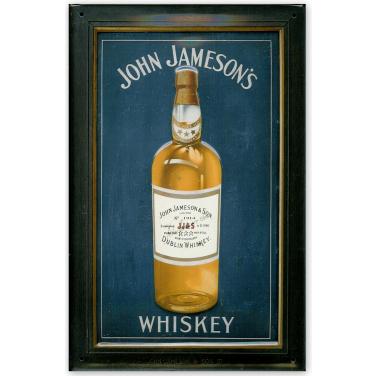 John Jameson's Whiskey blue -(20x30cm)
