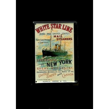 White star line Mail Steamers-(8x11cm)