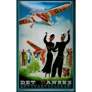 Det Danske Luftfartselskab-(20 x 30cm)