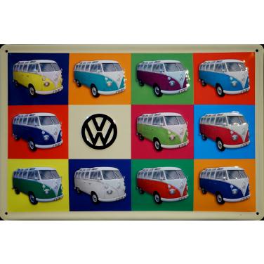 VW Bulli Col..-(30 x 20cm)