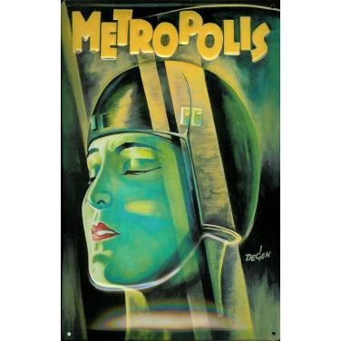 Metropolis - green Lady-(20 x 30cm)