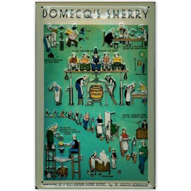 Domecq's Sherry -(20x30cm)