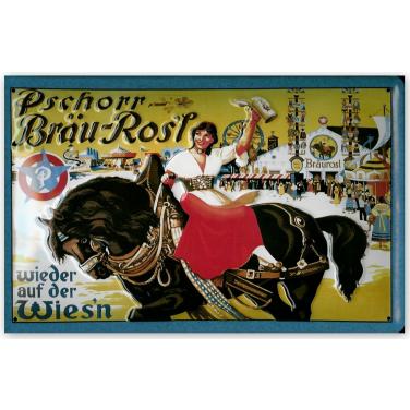 Pschorr Bräu Rosi-(20x30cm)