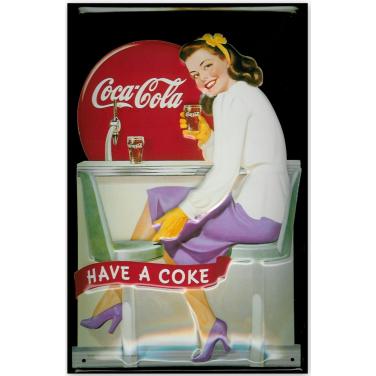 Coca-Cola Diner Girl-(20x30cm)